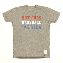 Original Retro Brand Men's Hot Dog Merica Short Sleeve T Shirt