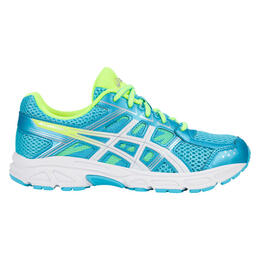 Asics Girl's Gel-Contend 4 GS Running Shoes Aquarium/White/Safety Yellow