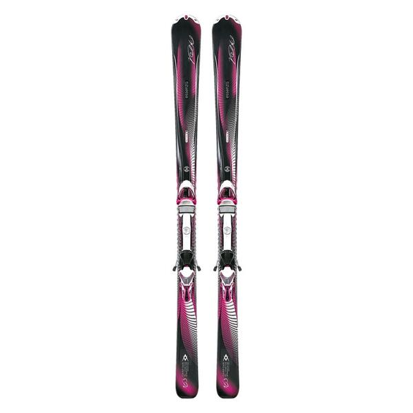 Volkl Women's Charisma All Mountain Skis with Emotion 11 TC Demo Bindings '14