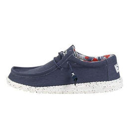 Hey Dude Men's Wally Stretch Casual Shoes Blue