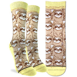 Good Luck Socks Women's Coffee Sloth Socks