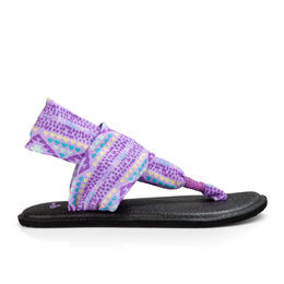 Sanuk Girl's Yoga Sling Burst Prints Sandals