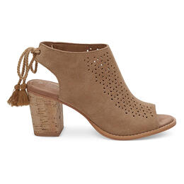 Toms Women's Elba Booties Toffee Perforated