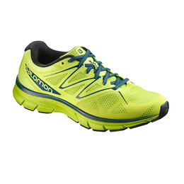 Salomon Men's Sonic Running Shoes Lime Green/Mallard Blue
