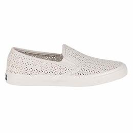 Sperry Women's Seaside Perforated Casual Ivory Shoes