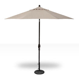 Treasure Garden 9' Auto Tilt Umbrella - Black with Beige