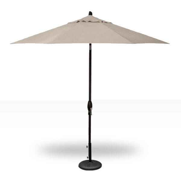 Treasure Garden 9' Auto Tilt Umbrella - Bla