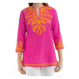 Gretchen Scott Women's The Reef Embroidered Tunic