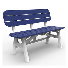 Seaside Casual Portsmouth 4 ft. 2 Tone Bench