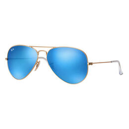 Ray-Ban Aviator Classic Sunglasses With Blue Flash Lenses