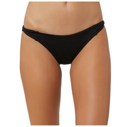 O'Neill Women's Salt Water Solids Twist Tab Bikini Bottoms