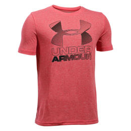 Under Armour Boy's Hybrid Big Logo Short Sleeve Shirt