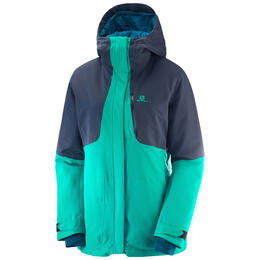 Salomon Women's QST Snow Jacket, Waterfall
