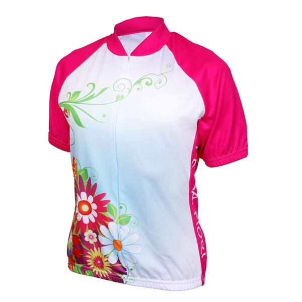 World Jerseys Women's Bella Fiori Pink Cycling Jersey