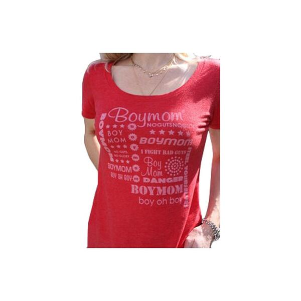 Boymom Women's Fonts Scoop Neck Tee