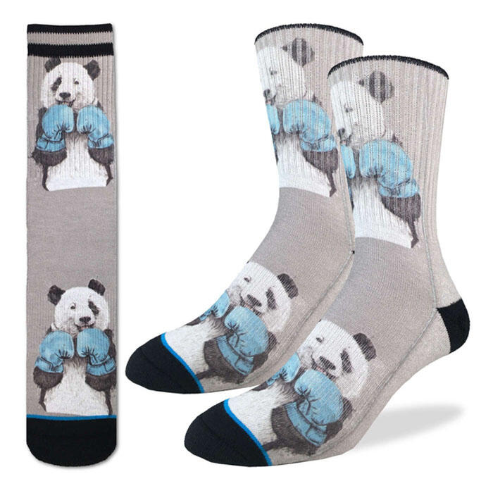 Good Luck Socks Men's Boxing Panda Socks