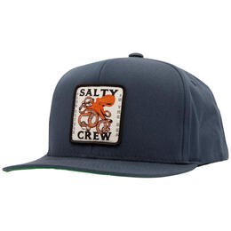 Salty Crew Men's Squiddy Six Panel Snapback Hat