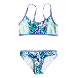 Roxy Girl's Geo Mix In Athletic Bikini Set