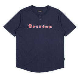 Brixton Men's Proxy Short Sleeve Henley T-shirt
