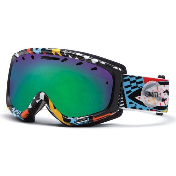 Smith Phenom Snow Goggles with Green SOL-X Lens