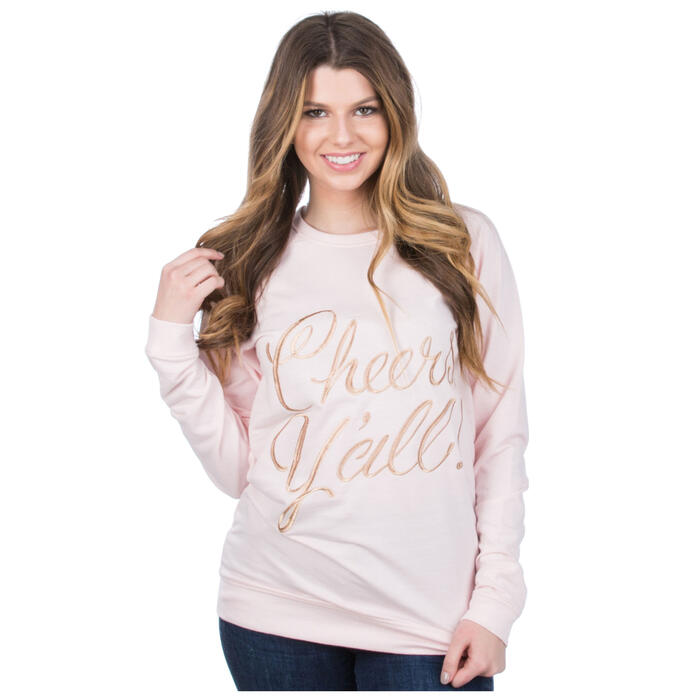 Lauren James Women's Reed Cheers Y'all Swea