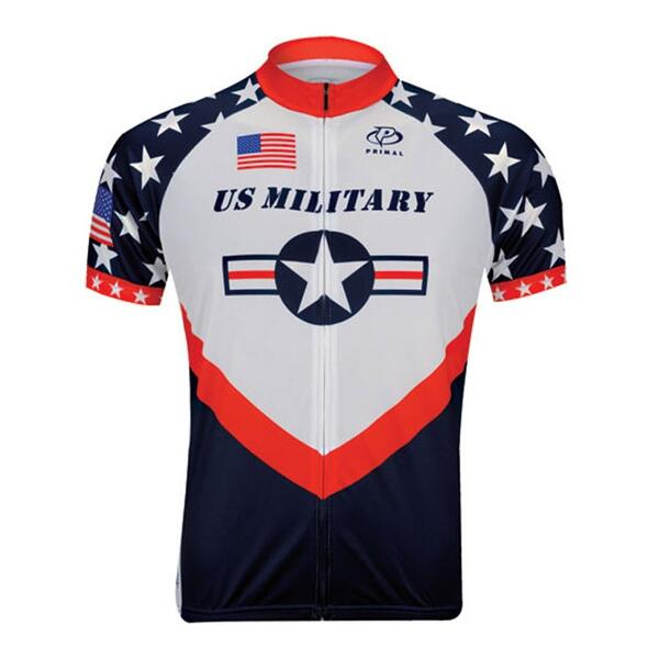 Primal Wear Men's Us Military Cycling Jersey