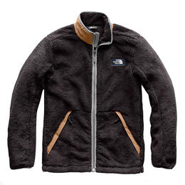 The North Face Men's Campshire Full Zip Fleece Jacket, Weathered Black/Cargo Khaki