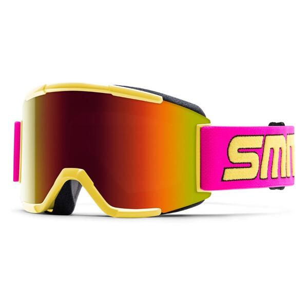 Smith Squad Snow Goggles With Red Sol-x Lens