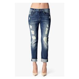 7 For All Mankind Women's Relaxed Skinny Jeans w/ Super Destroyed Deep Indigo