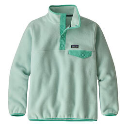 Patagonia Girl's Synchilla Snap-T Pullover, Lite Distilled Green