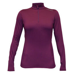 Hot Chillys Women's Micro-Elite Chamois Solid 1/4 Zip Base Layer Top