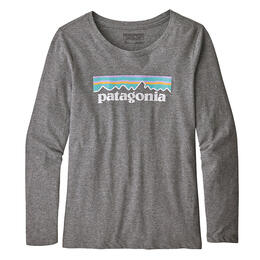 Patagonia Girl's Long-sleeved Pastel P-6 Graphic Organic T Shirt