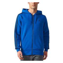 Adidas Men's Essentials 3S Full-Zip Hoodie