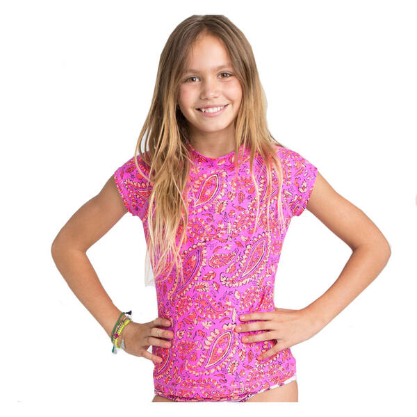 Billabong Girl's Penny Paisley Rashguard Set