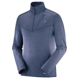 Salomon Men's Discovery Half Zip Top, Hailstorm