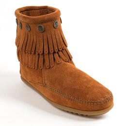 Minnetonka Women's Double Fringe Side Zip Boots