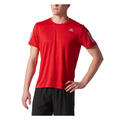 Adidas Men's Response Short Sleeve Running Shirt Front Red