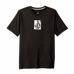 Volcom Boy's Lido Pixel Heather Short Sleeve Rashguard