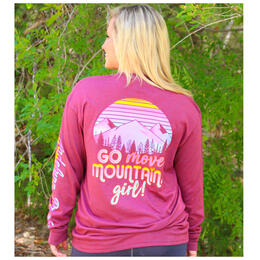 Jadelynn Brooke Women's Go Move Mountains Girl Longsleeve Tee