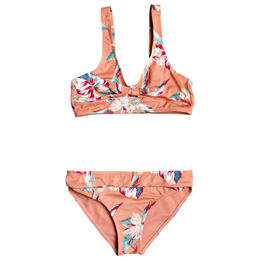 Roxy Girl's Made For Roxy Athletic Bikini Set