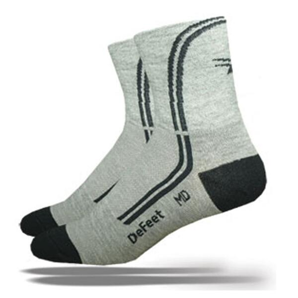 Defeet Speede Deline Grey Cycling Socks