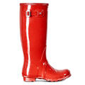 Hunter Women's Original Tall Gloss Rain Boots Military Red alt image view 1
