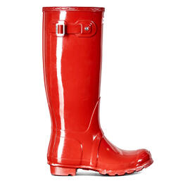 Hunter Women's Original Tall Gloss Rain Boots Military Red