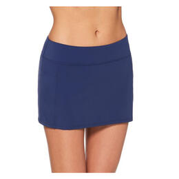 Jag Sport Women's Runaround Skirt Swim Bottoms Navy