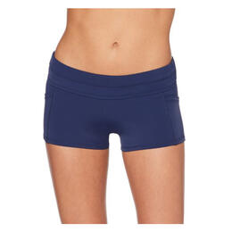 Jag Sport Women's Boyleg Pocket Swim Bottoms Navy
