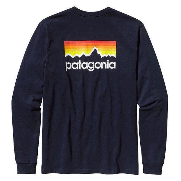 Patagonia Men 39 S Long Sleeve Line Logo T Shirt Sun Ski