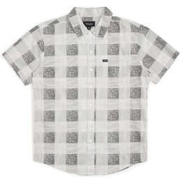 Brixton Men's Charter Plaid Woven Short Sleeve Shirt
