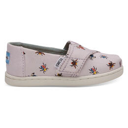 Toms Girl's Alpargata Casual Shoes Lavender Bugs