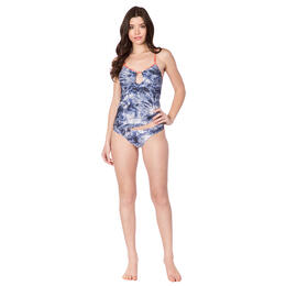 Lucky Brand Women's Crushed Waves Tankini Swim Top