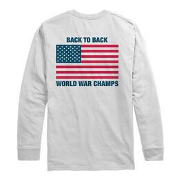 22b2c1237 Rowdy Gentleman Men's Back To Back Classic Long Sleeve T-shirt